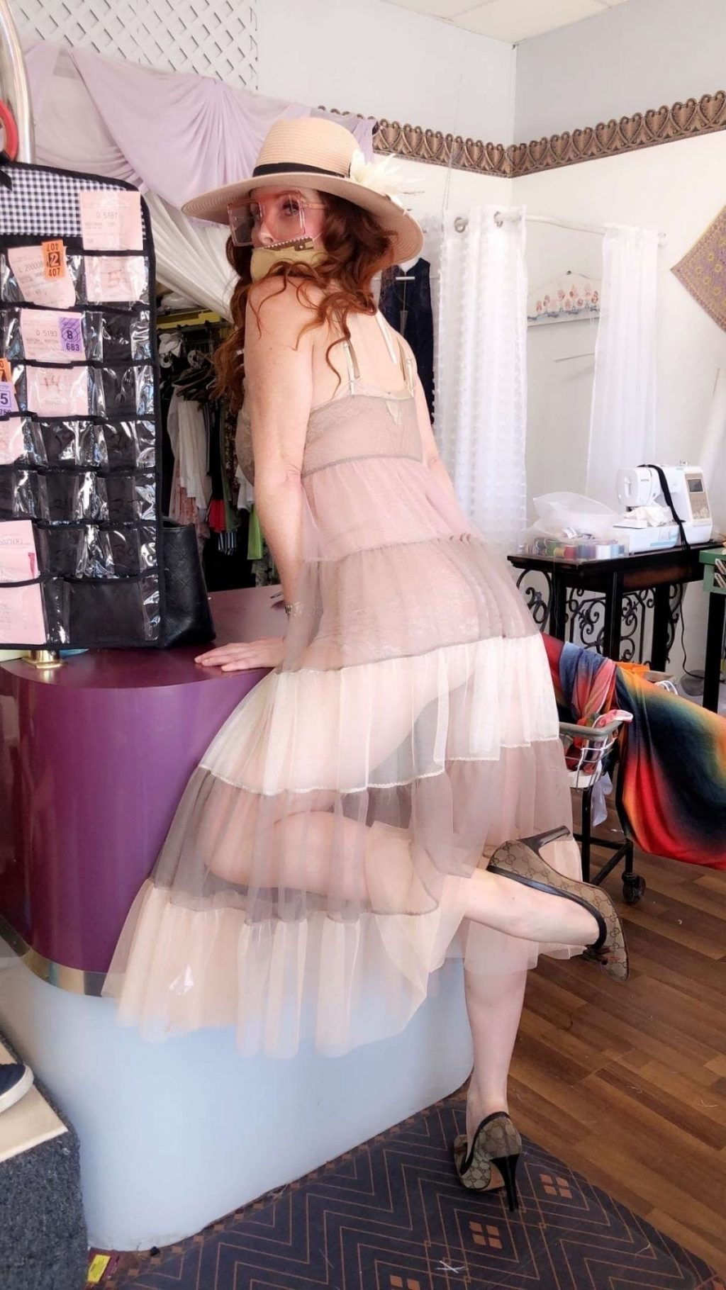 Phoebe Price Poses in a See-Through Dress (19 Photos)