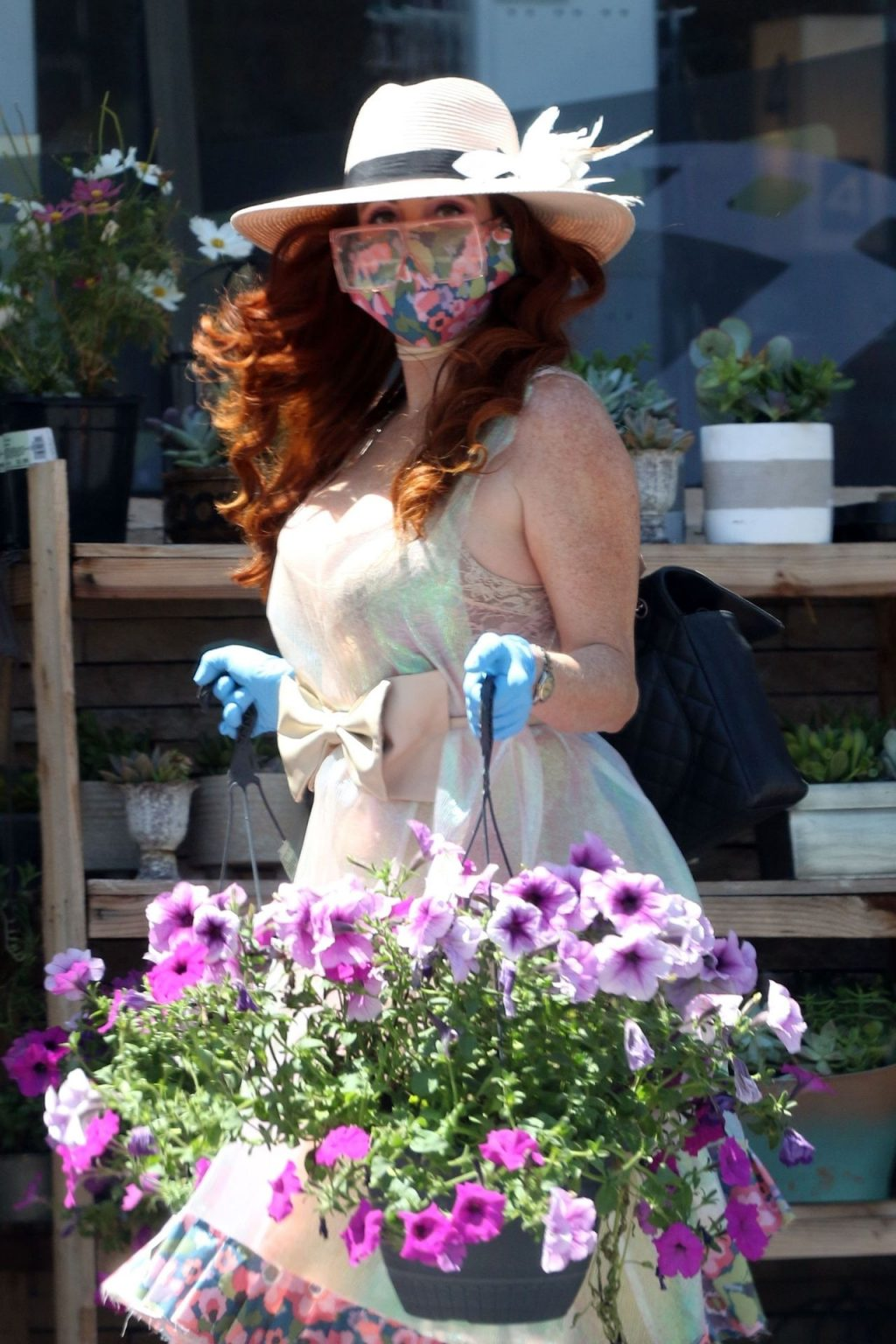 Busty Phoebe Price Stops and Smells the Flowers in LA (40 Photos)