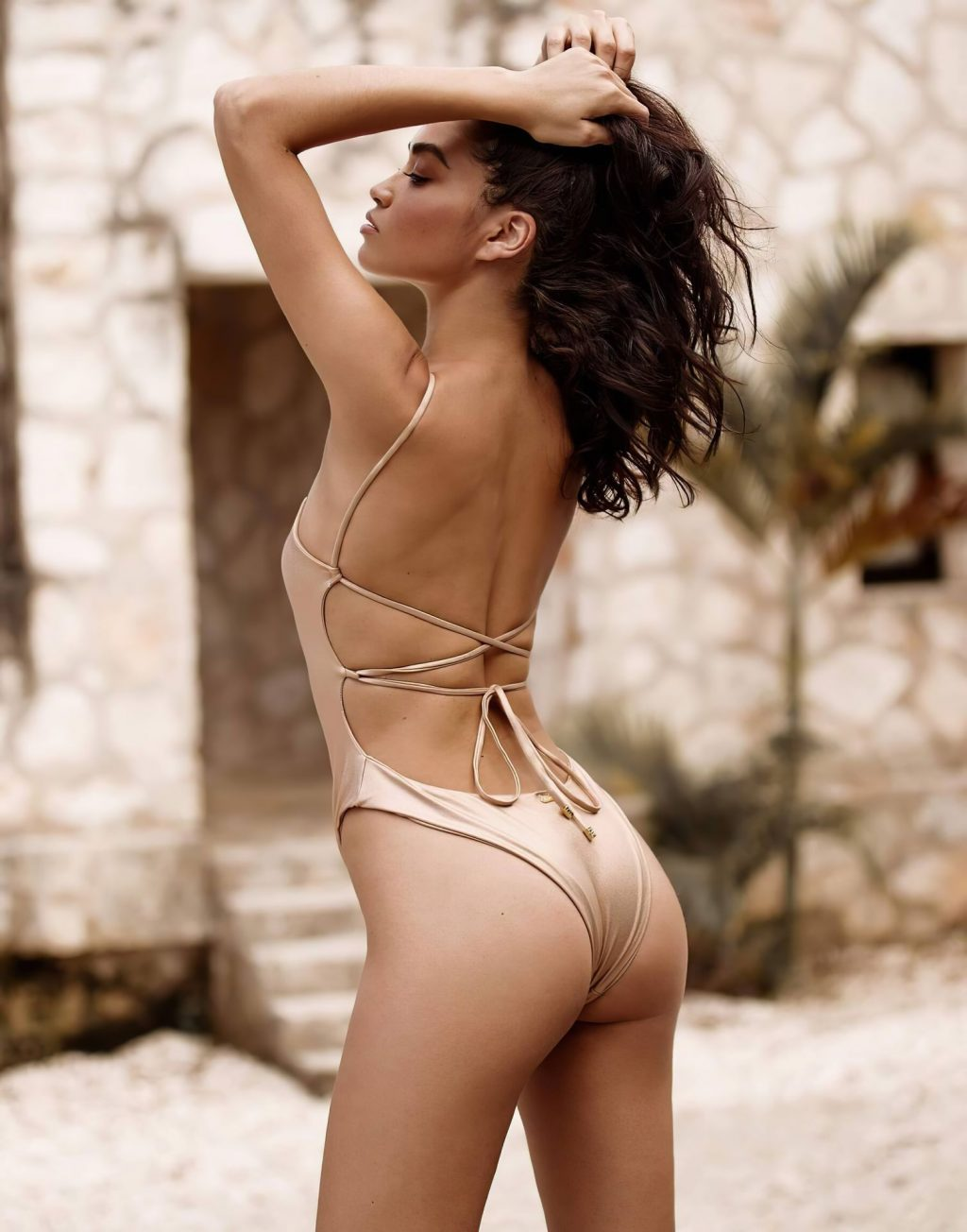 Shanina Shaik Shows Her Butt for Beach Bunny Swimwear Collection (8 Photos)