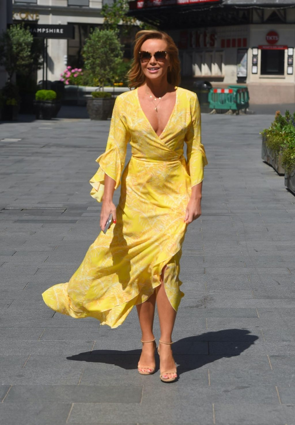 Amanda Holden Displays Her Pokies in a Yellow Dress (67 Photos)