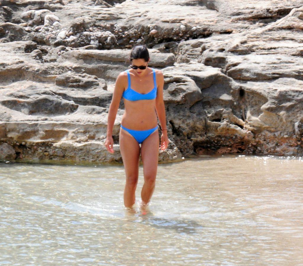Ana Ivanovic Looks Stunning in a Blue Bikini in Majorca (34 Photos)