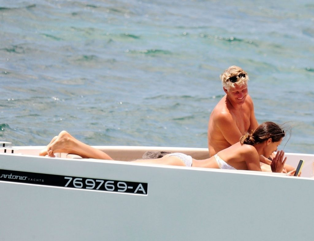 Ana Ivanovic is Pictured with Bastian Schweinsteiger on a Luxury Yacht in Mallorca (34 Photos)