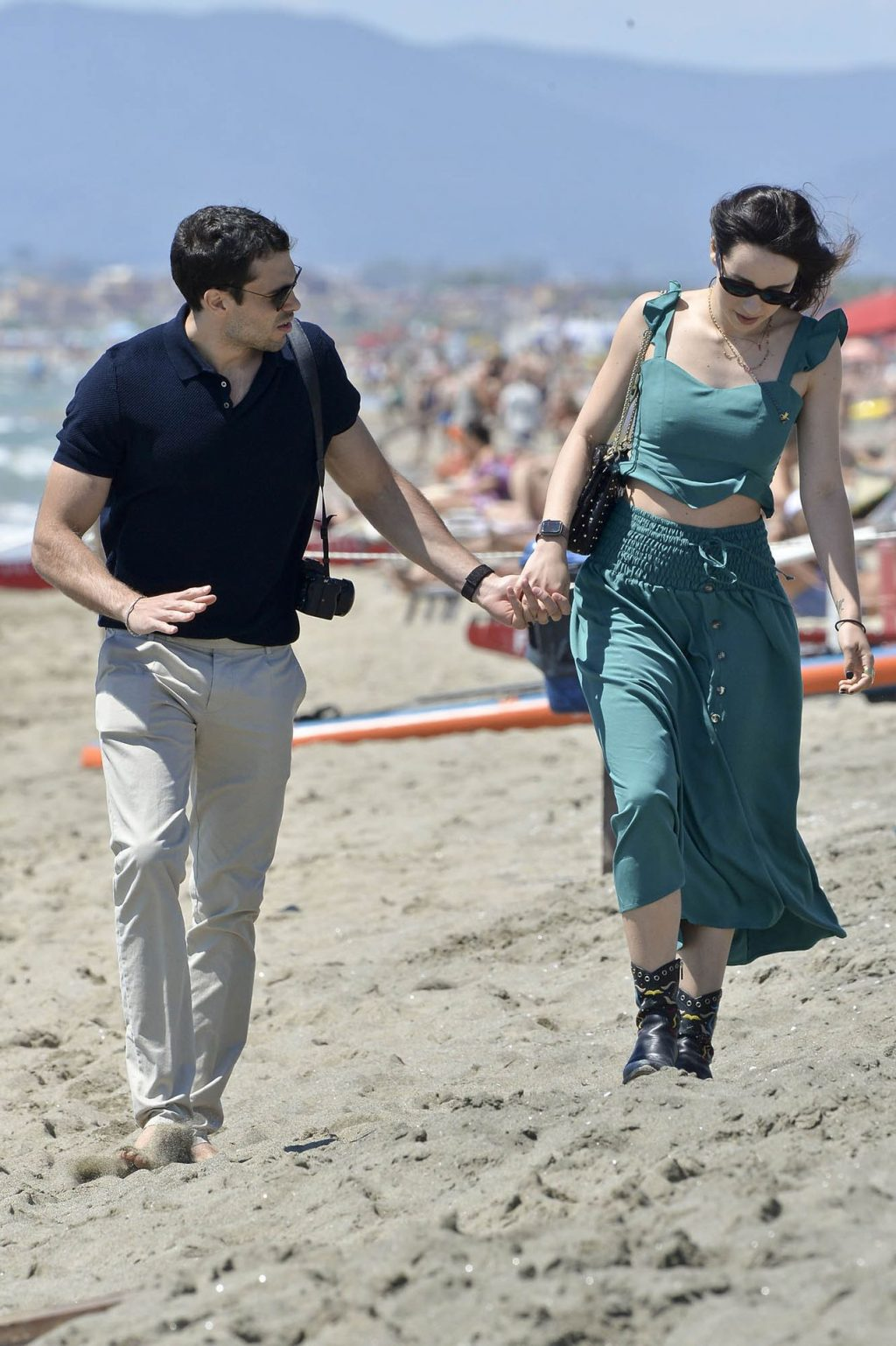 Aurora Ramazzotti Takes a Stroll and Some Pictures on the Beach (34 Photos)