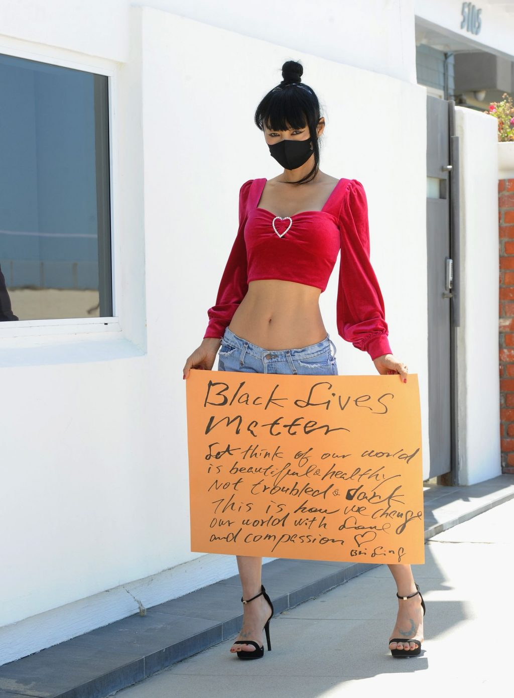 Bai Ling Supports the Black Lives Matter Movement In Los Angeles (27 Photos)