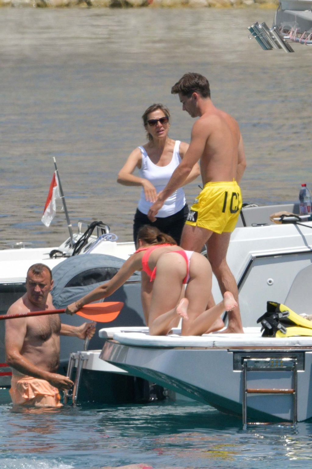 Charles Leclerc & Charlotte Siné Look Loved Up On Speedboat In Monaco (67 Photos)
