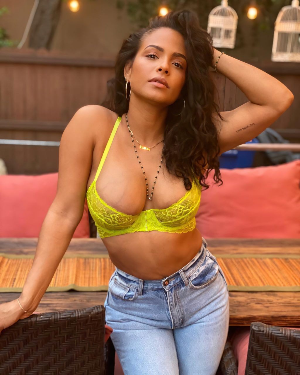 Christina Milian Shows Her Great Cleavage (3 Photos)