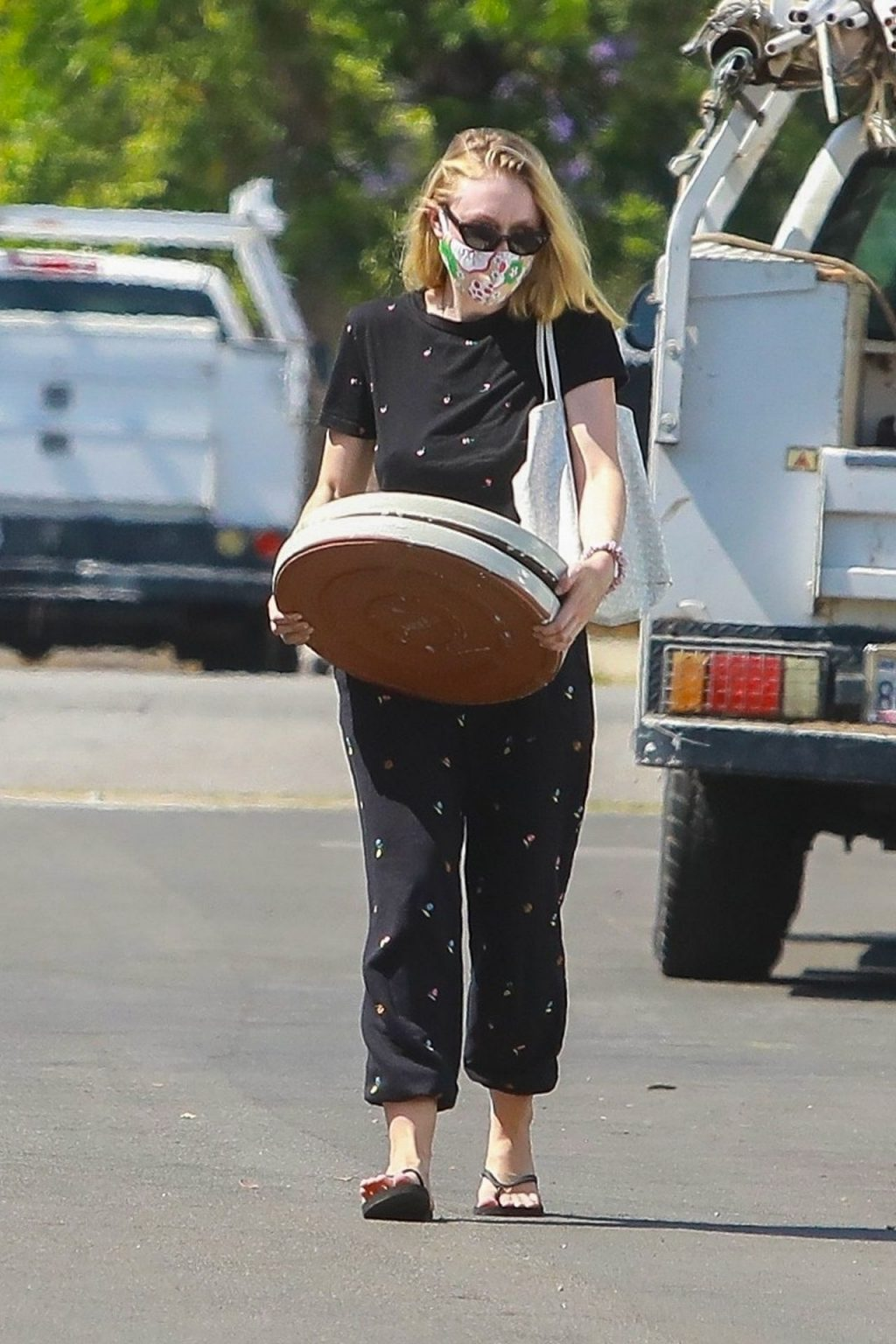 Dakota Fanning Carries Heavy Items to Her Car After Shopping in LA (26 Photos)