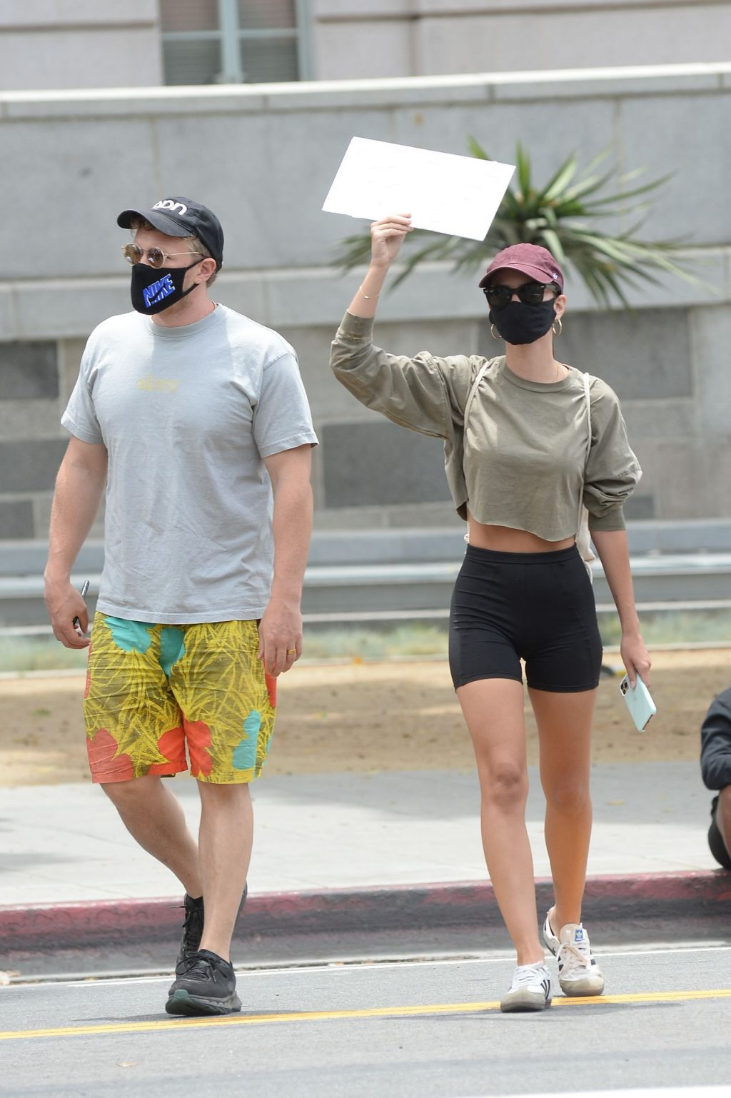Emily Ratajkowski and Husband Head to Downtown LA to Attend the Black Lives Matter Protest (39 Photos)