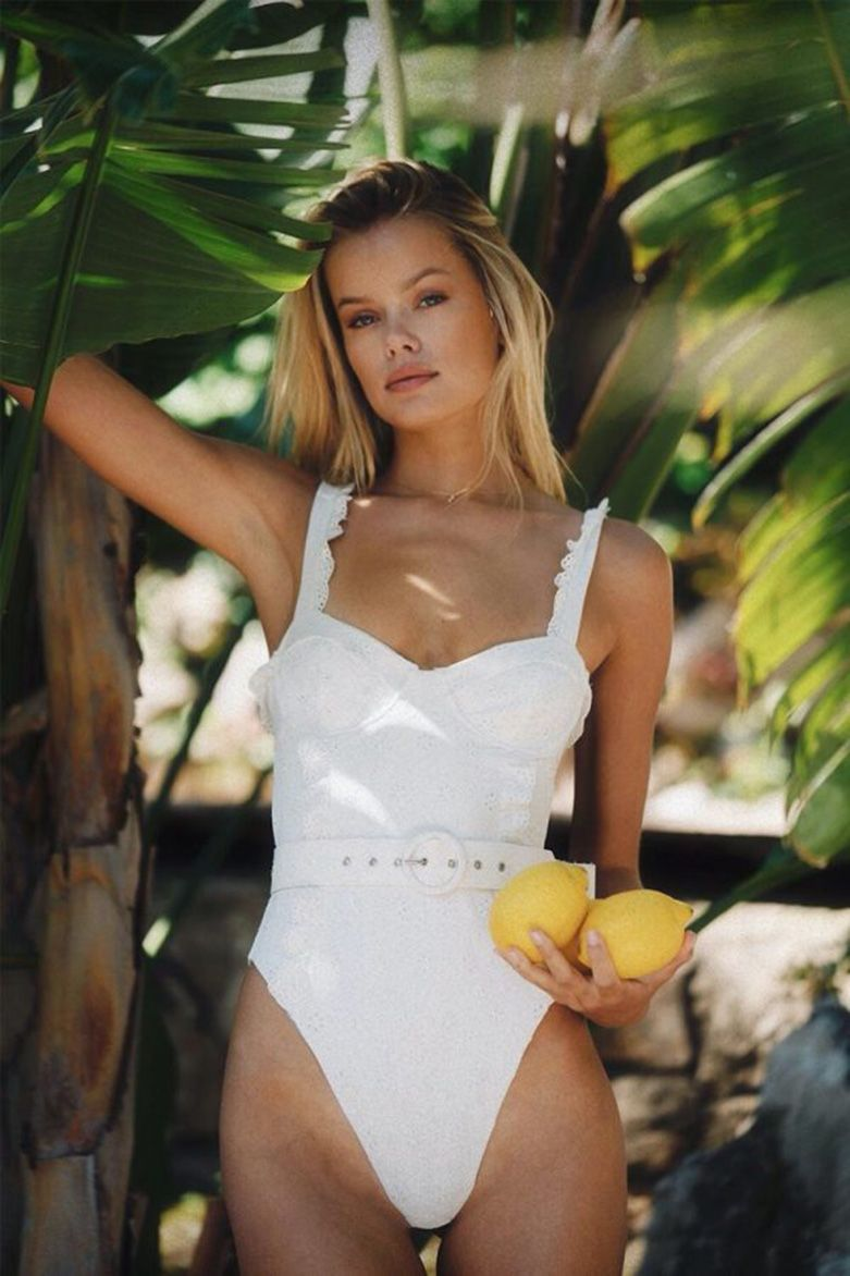 Frida Aasen Poses for the Swimwear Campaign of the English Brand (8 Photos)