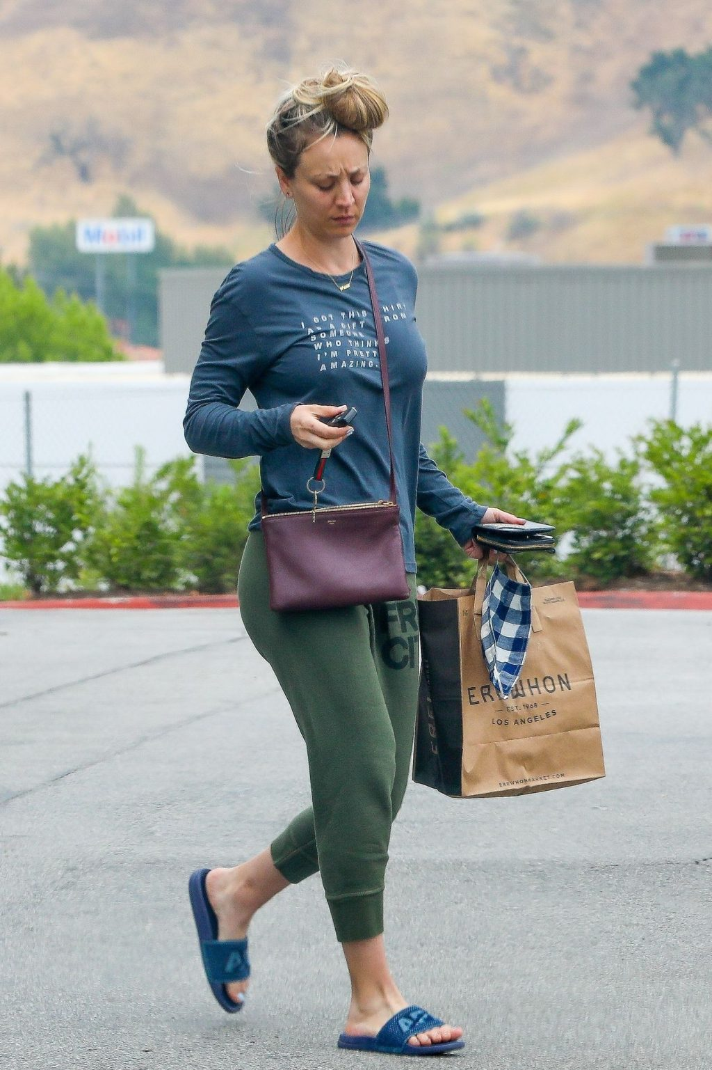 Kaley Cuoco Appears to Have a Bad Hair Day While Grocery Shopping (19 Photos)