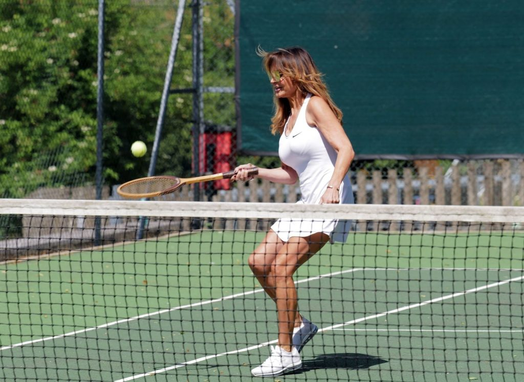 Lizzie Cundy Enjoys a Tennis Game with a Friend in London (26 Photos)