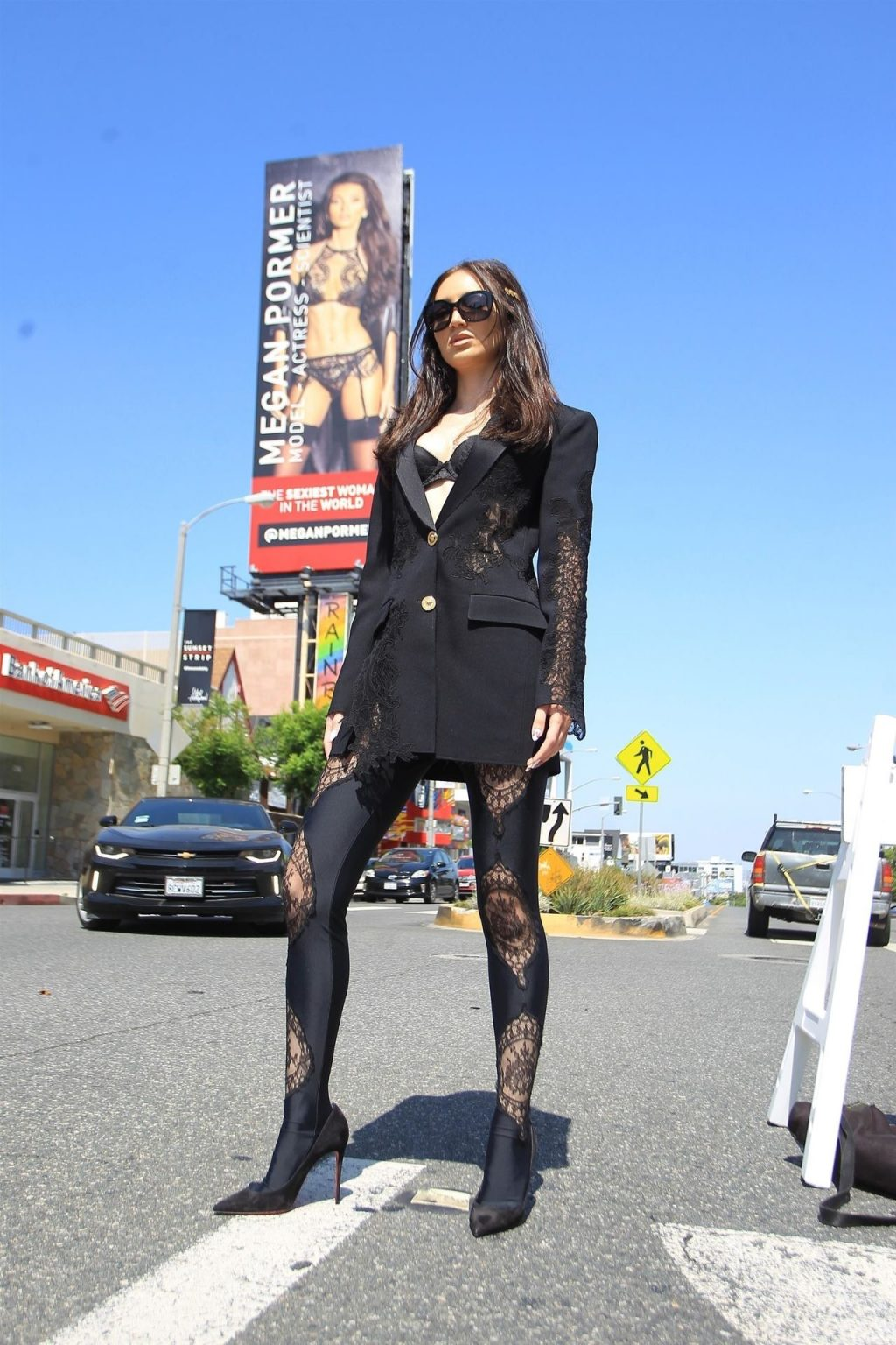 Megan Pormer Poses Up in Front of Her Maxim Billboard on Sunset (13 Photos)