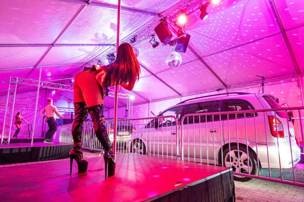 Micaela Schaefer Presents the Strip-Drive-In in Landshut (6 Photos)