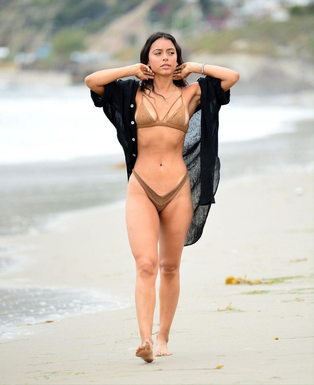Michelle Hayden Steps Out in a Tiny Bikini on Malibu Beach (13 Photos)