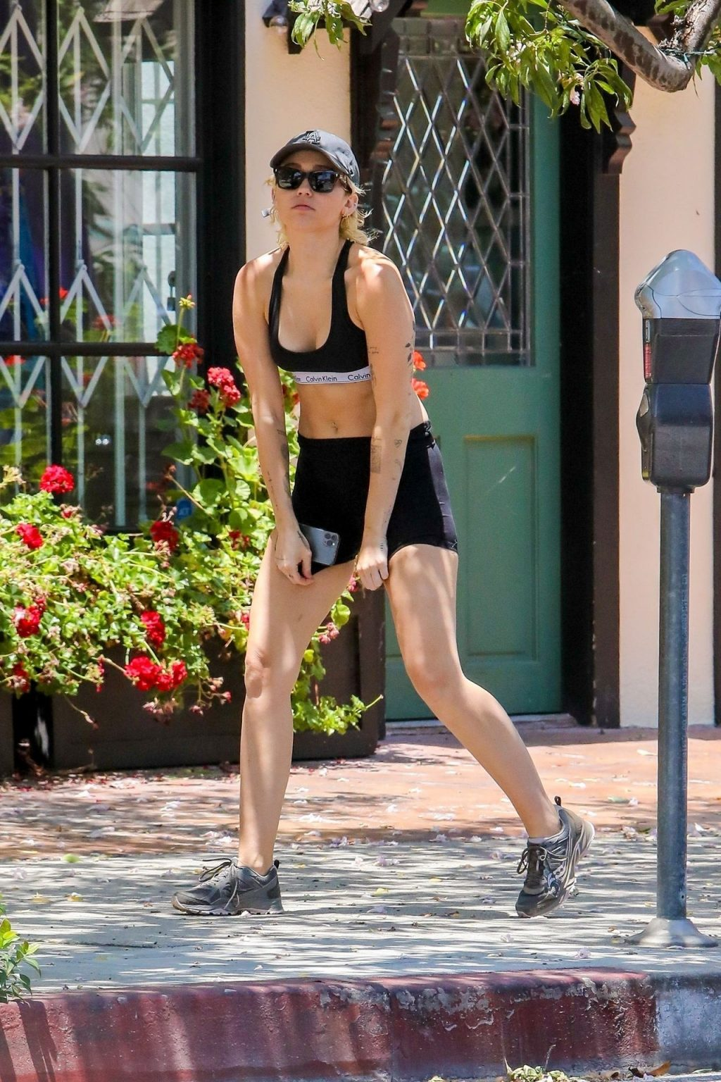 Miley Cyrus & Cody Simpson Walk with Their Dog (10 Photos)