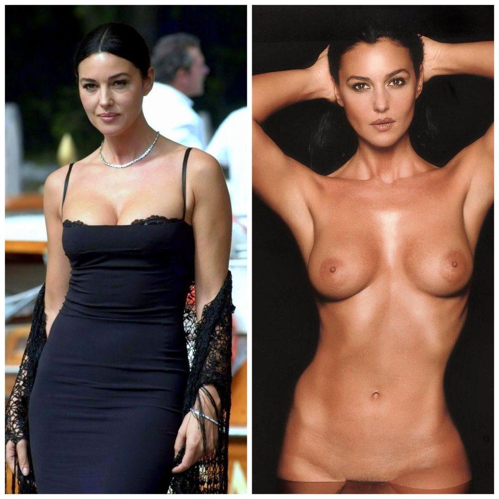 Monica Bellucci Nude & Sexy (1 Collage Photo)