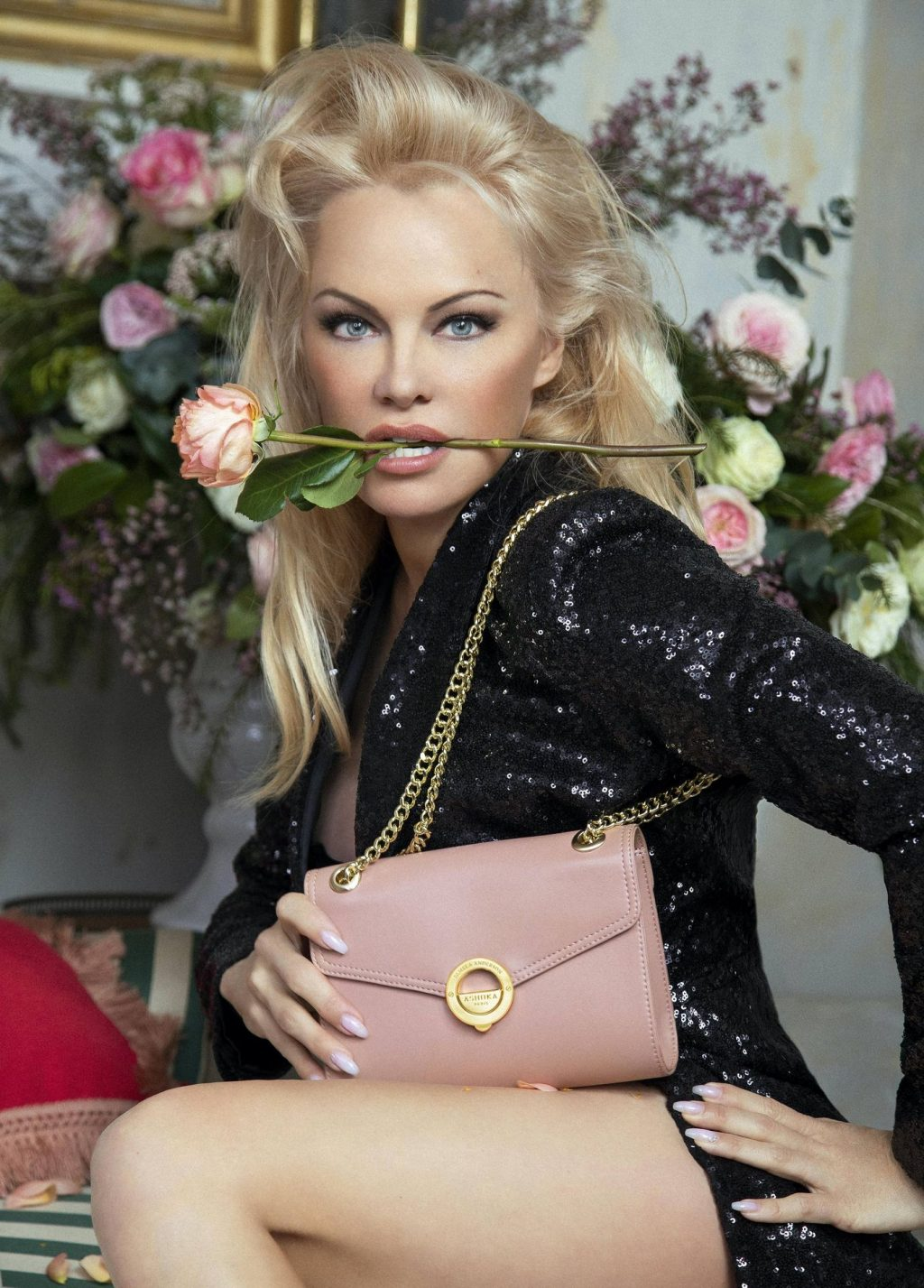 Pamela Anderson Looks Stunning in Vegan Bag Campaign (8 Photos)