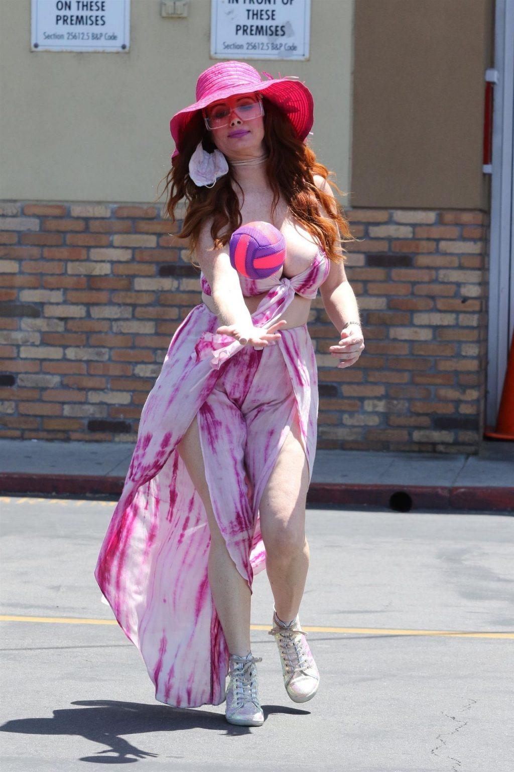 Phoebe Price Suffers a Nip Slip While Playing Ball (11 Photos)