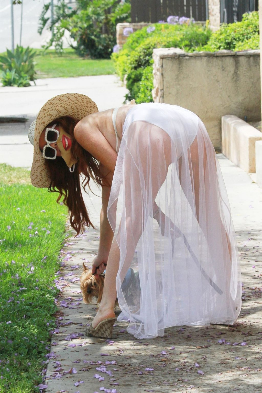 Hot Phoebe Price Poses in a White Dress in LA (53 Photos)