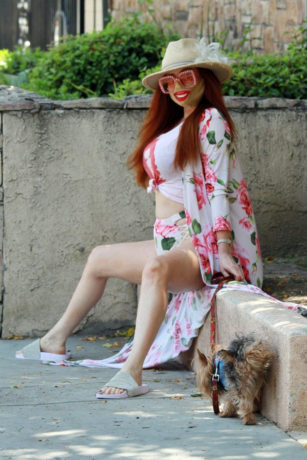 Phoebe Price Flashes Her Bum in a Floral Dress (19 Photos)