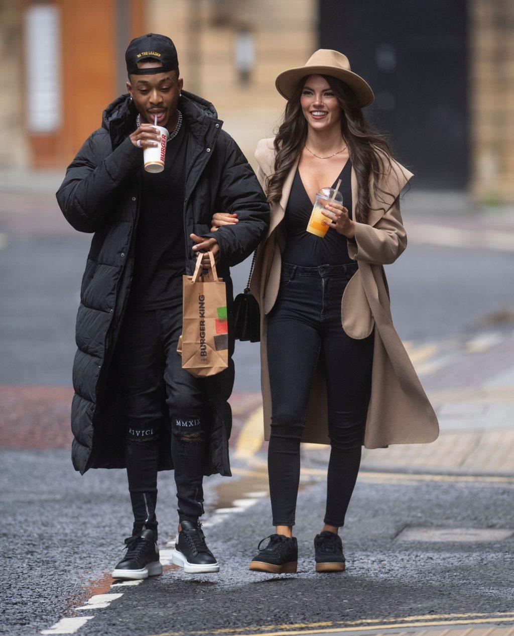 Rebecca Gormley & Biggs Chris Enjoy a Takeaway Burger King in Newcastle (29 Photos)