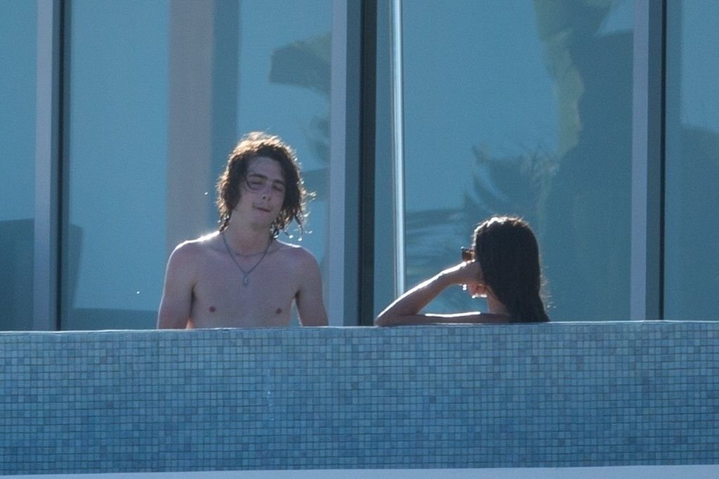 Timothee Chalamet & Eiza Gonzalez Turn Up the Heat During VERY Steamy PDA Session in Their Pool (52 Photos)