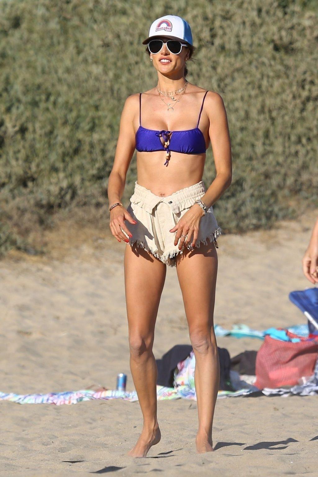 Sexy Alessandra Ambrosio Enjoys Another Day at the Beach (112 Photos)
