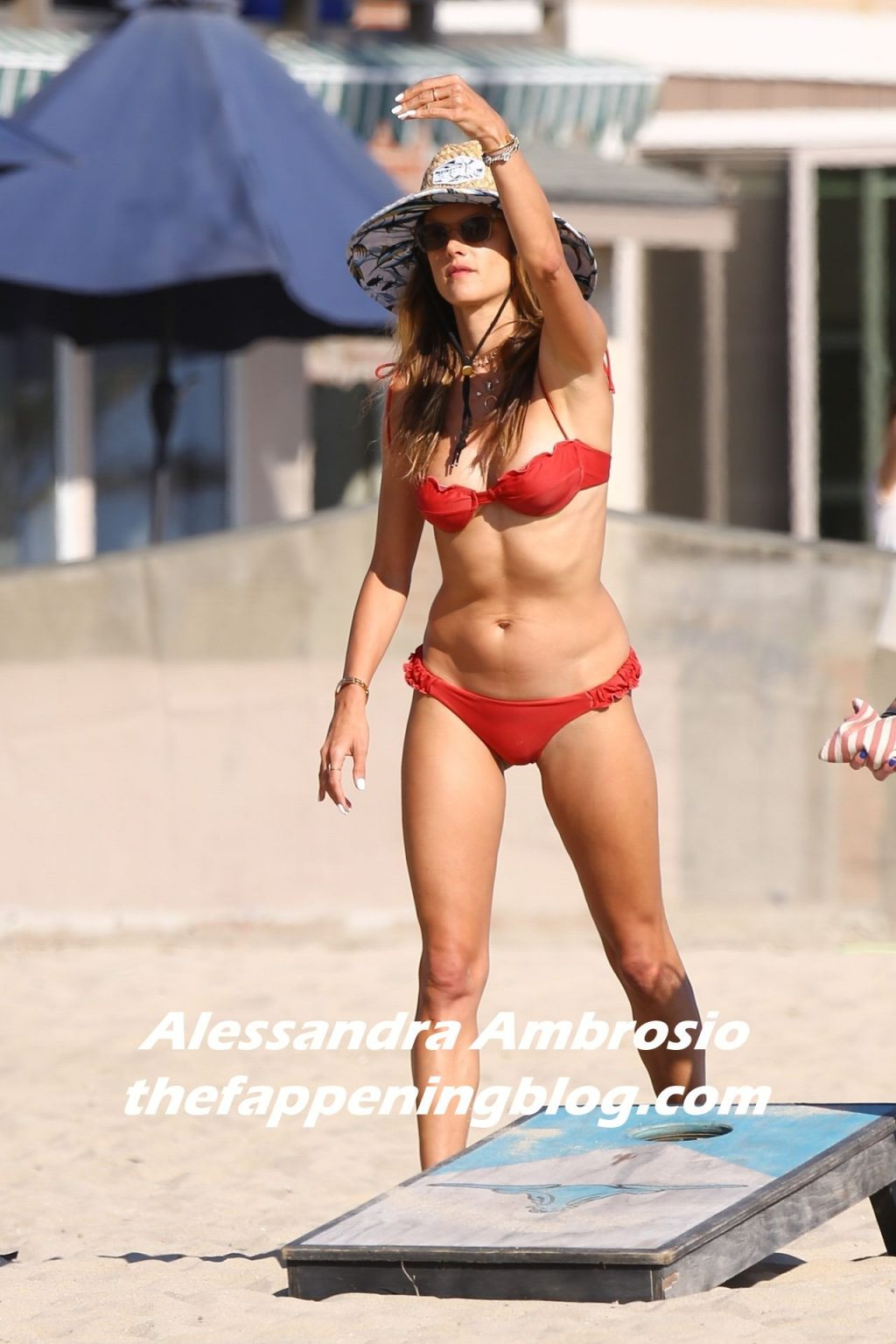 Alessandra Ambrosio Has Fun in the Sun Rocking a Red Bikini (38 Photos)