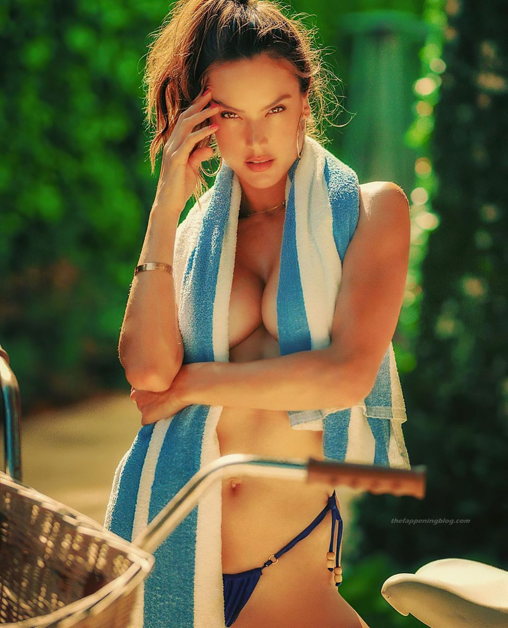 Alessandra Ambrosio Topless (5 New Photos)