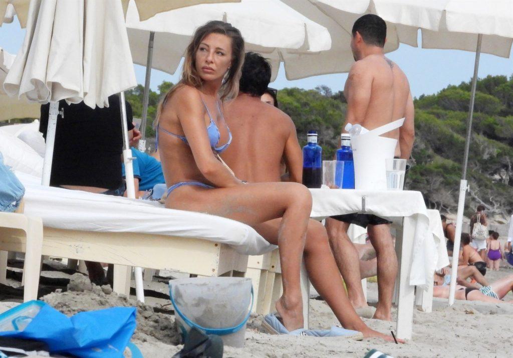 Alessia Tedeschi Enjoys a Day at the Beach with a Friend in Ibiza (18 Photos)