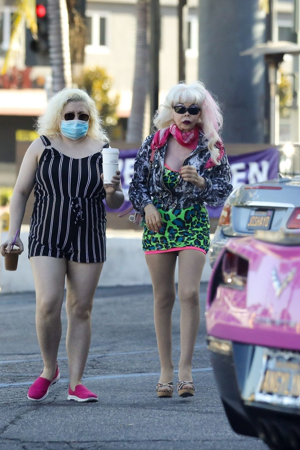 """Angelyne Flashes Her """"Roses"""" in WeHo (44 Photos)"""
