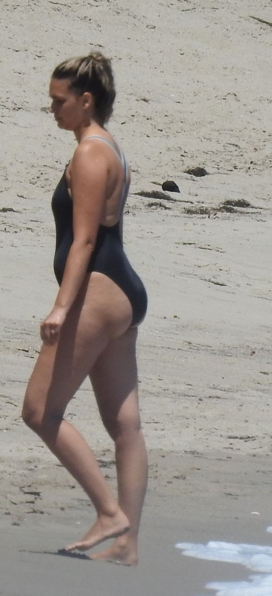 April Love Geary Shows Off Her Curves in a Black Swimsuit (61 Photos)