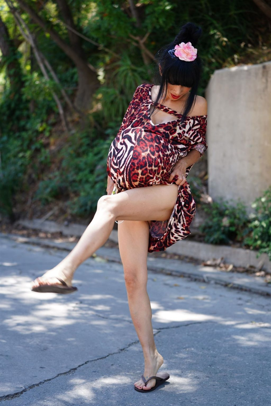 Bai Ling Wears a Pregnant Belly in Beverly Hills (78 Photos)