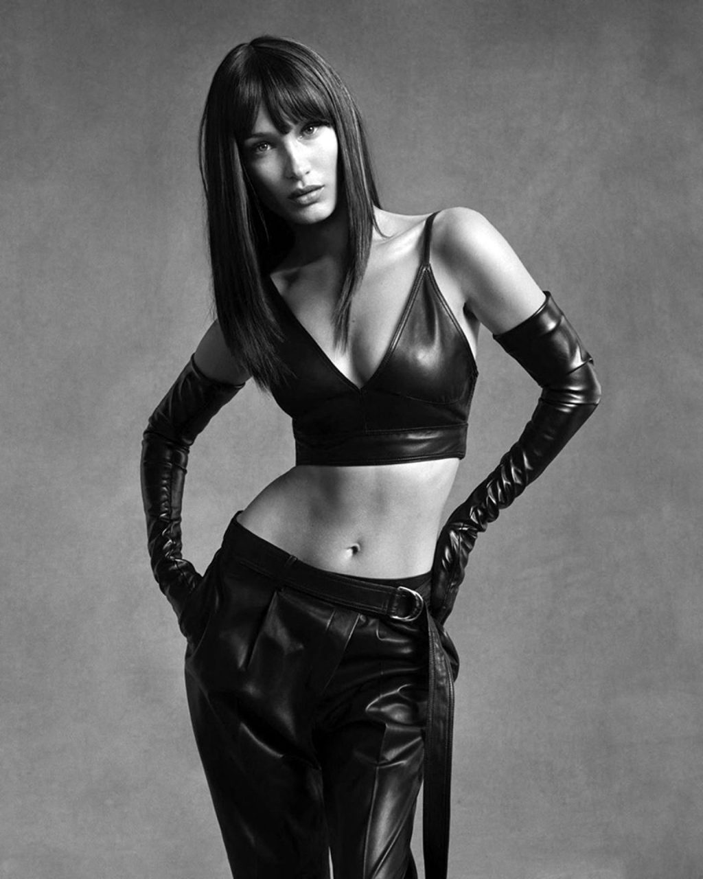Bella Hadid Poses for Helmut Lang's Fall 2020 Black & White Campaign (5 Photos)