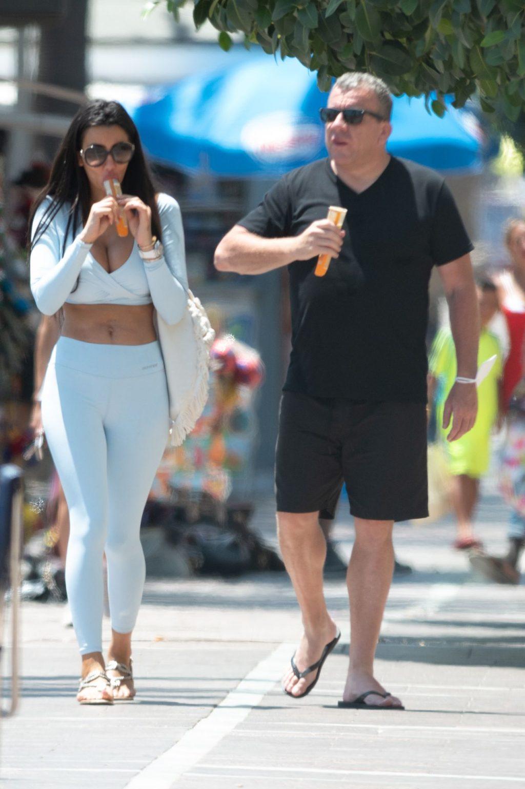 Chloe Khan Sucks on a Popsicle as She Soaks Up the Sun in Marbella (30 Photos)