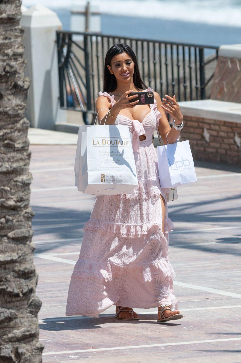 Chloe Khan Takes Selfies as She Enjoys the Sun in Marbella (15 Photos)