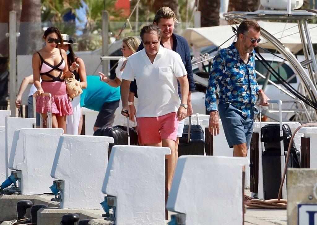 Duncan Bannatyne & Nigora Whitehorn Enjoy a Boat Trip on a Luxury Yacht in Spain (58 Photos)