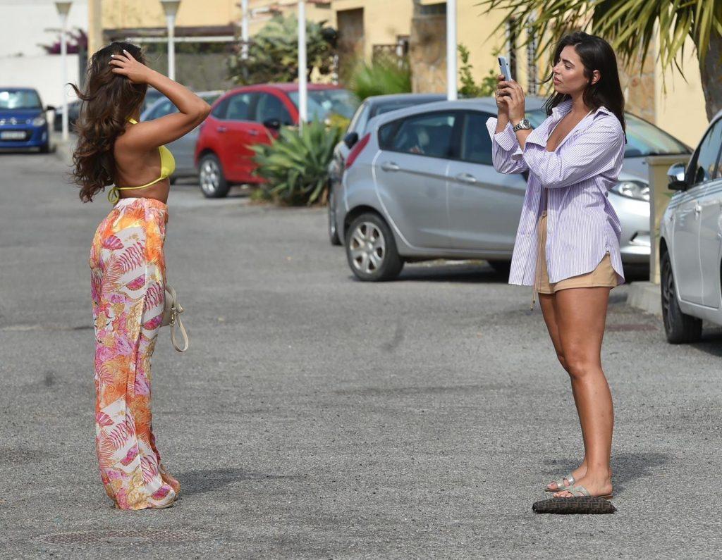 Francesca Allen & Elma Pazar Are Seen Arriving At Ocean Beach In Ibiza (17 Photos)