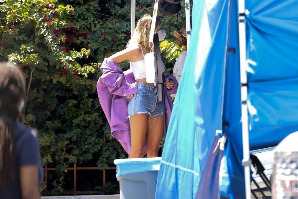 Leggy Hailey Bieber Gets Back to Work on a Secret Project (80 Photos)