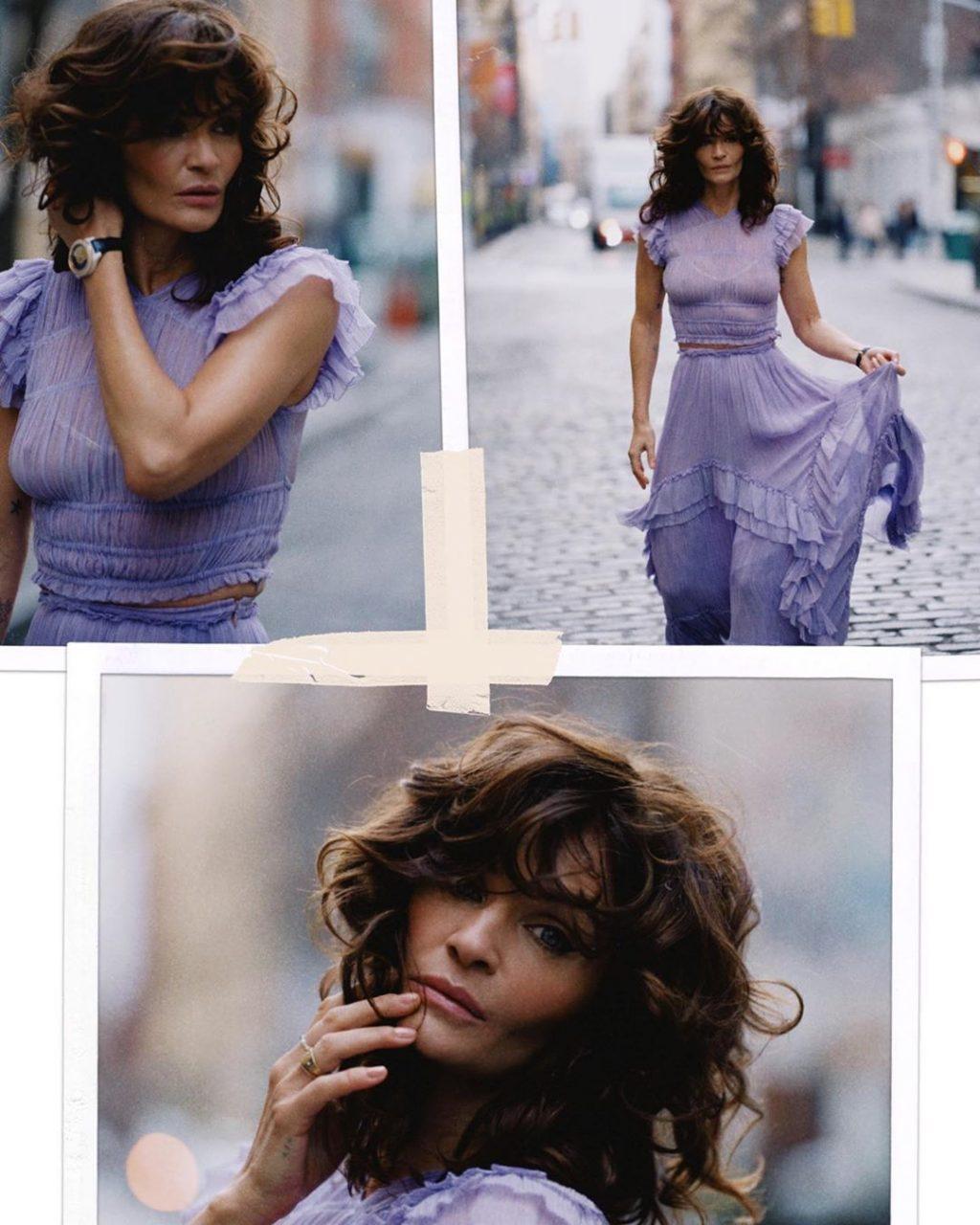 Helena Christensen Flaunts Her Tits (12 Photos)