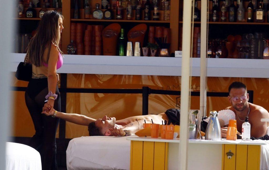 Holly Hagan Enjoys a Day at Wayne Lineker's Beach Club in Ibiza (15 Photos)