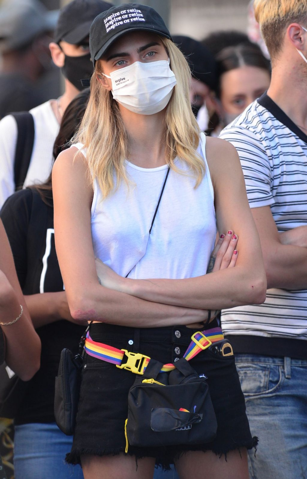 Kaia Gerber & Cara Delevingne Get a Bit Close as They Attend a BLM Protest in LA (35 Photos)
