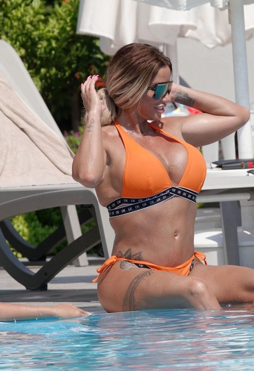 Katie Price Flaunts Her Big Fake Boobs on Holiday in Turkey (46 Photos)