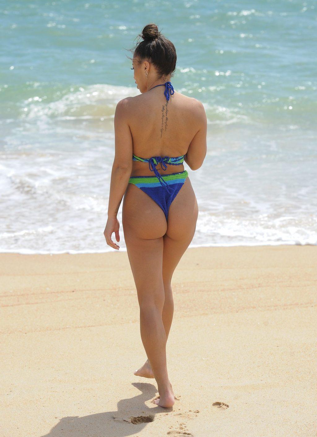 Sexy Kayleigh Morris Enjoys a Day on the Beach (18 Photos)
