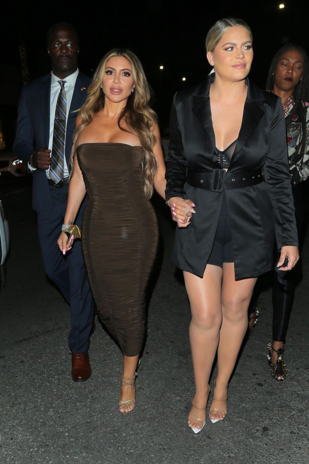 Larsa Pippen and Friend Arrive for Dinner at Il Pastaio Restaurant in Beverly Hills (24 Photos)