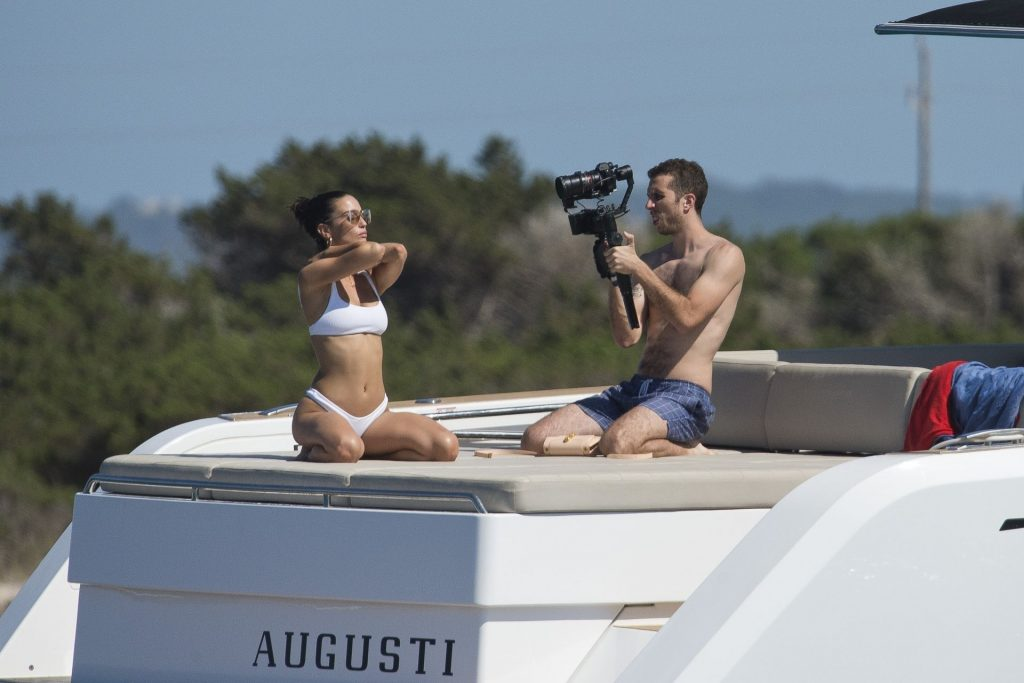 Sexy Maria Pedraza Poses in a White Bikini in Formentera (71 Photos)