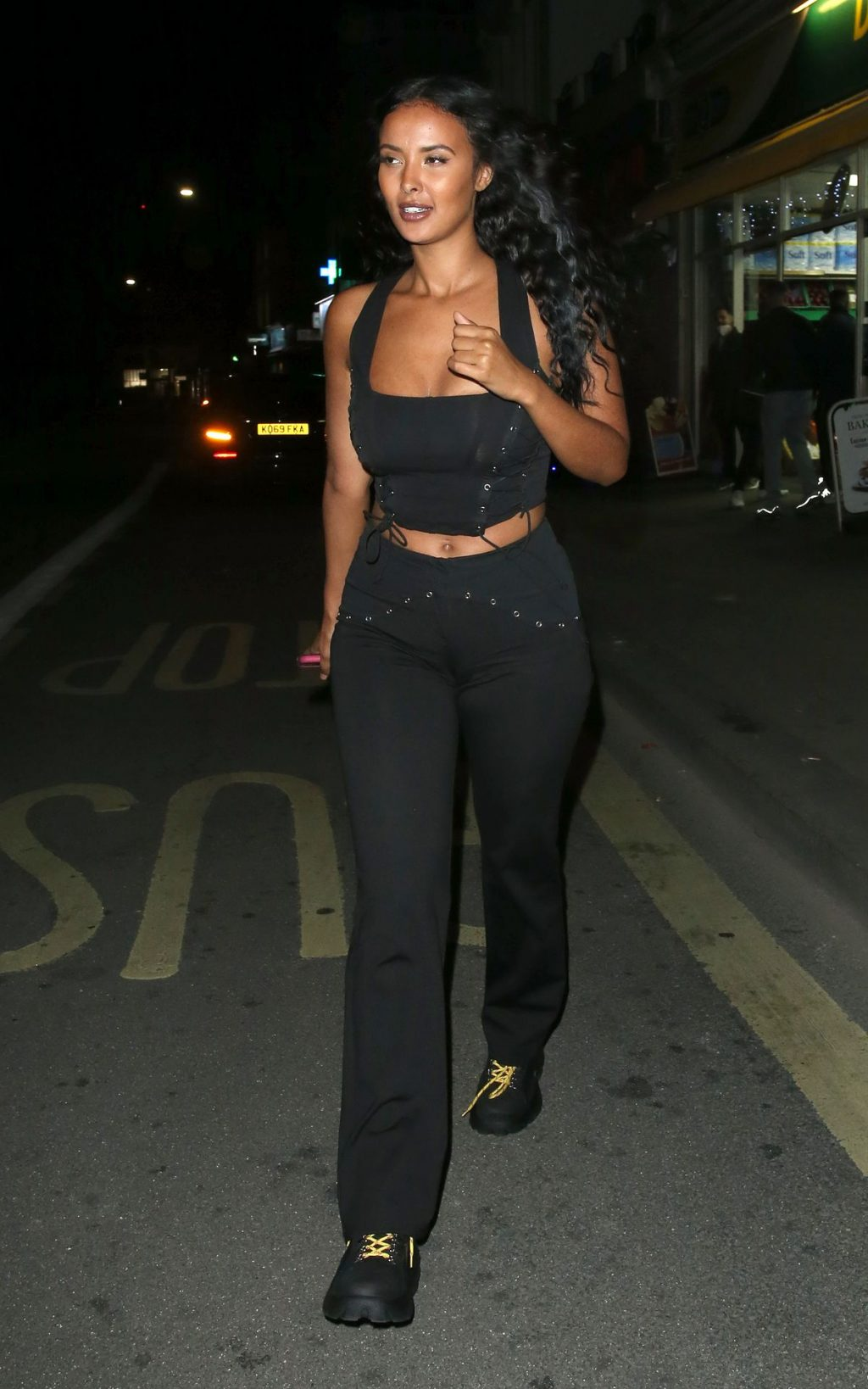 Maya Jama Enjoys a Night Out at Sexy Fish Restaurant in Mayfair (39 Photos)