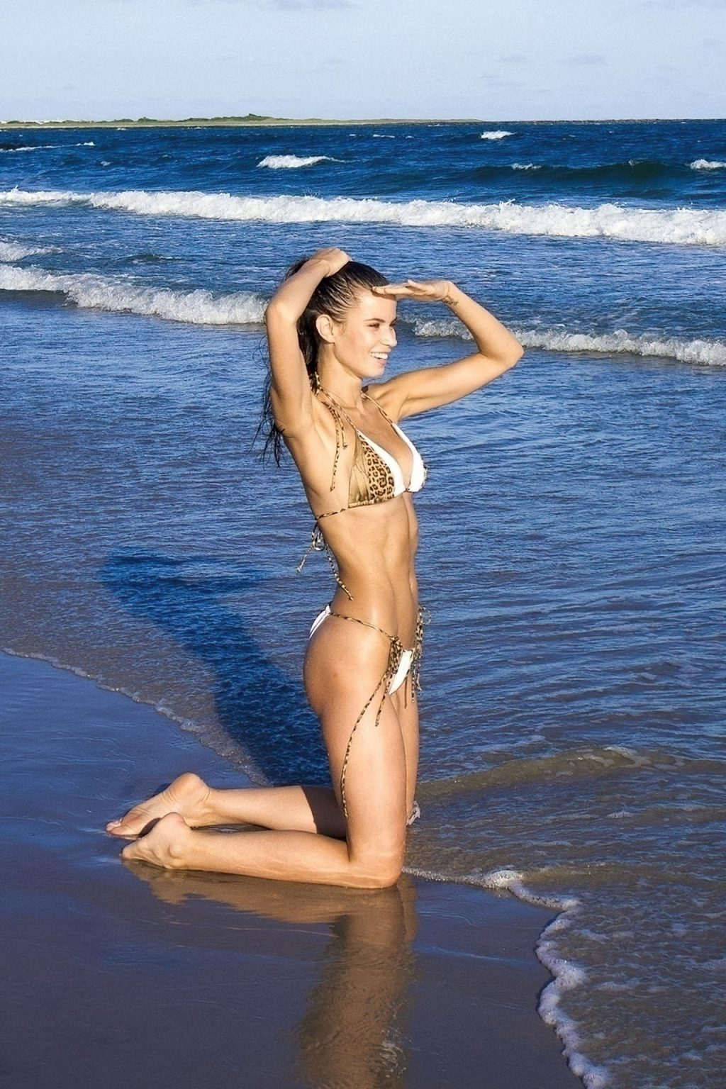 Michaela Vybohova Strikes Up a Very Sexy Pose on Flying Point Beach in the Hamptons (19 Photos)