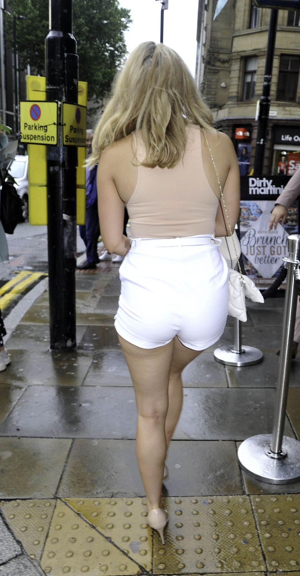 Leggy Mollie Winnard Enjoys a Day Out At Dirty Martini Bar (15 Photos)