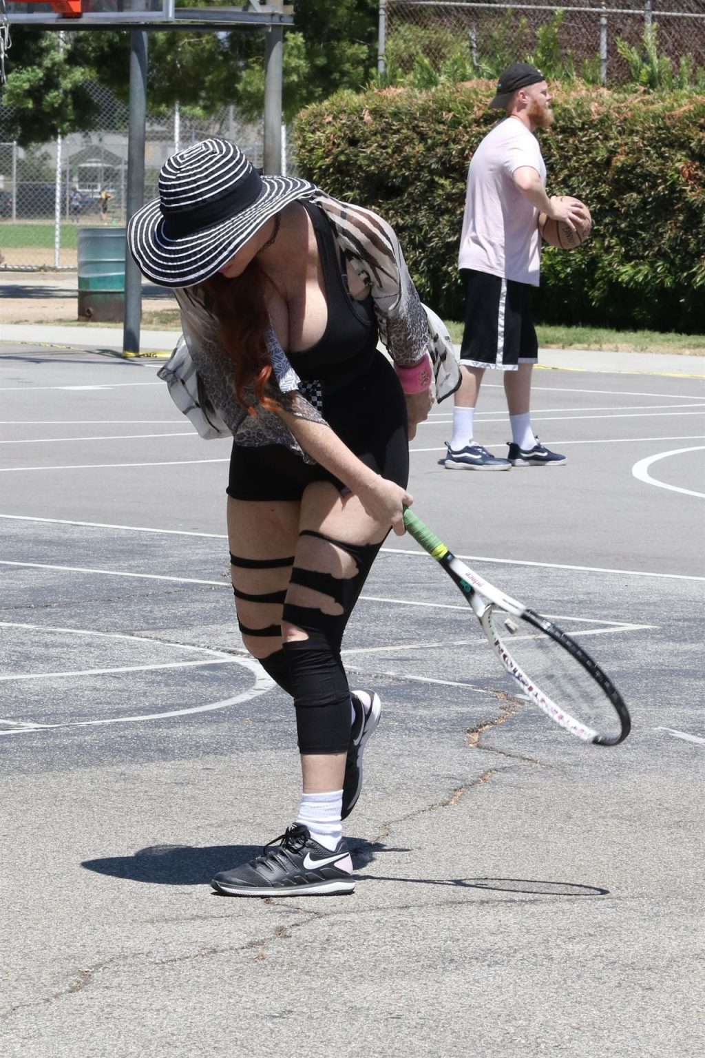 Phoebe Price Attends Tennis Practice in Ripped Up Leggings at the Park (45 Photos)